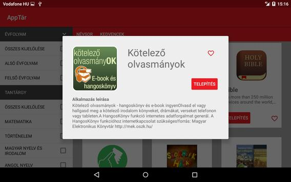 Vodafone AppTár apk screenshot