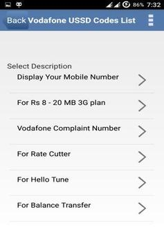 Vodafone USSD Codes India 1 28 (Android) - Download APK