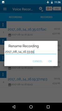 Voice Recorder, Widget & Record History apk screenshot
