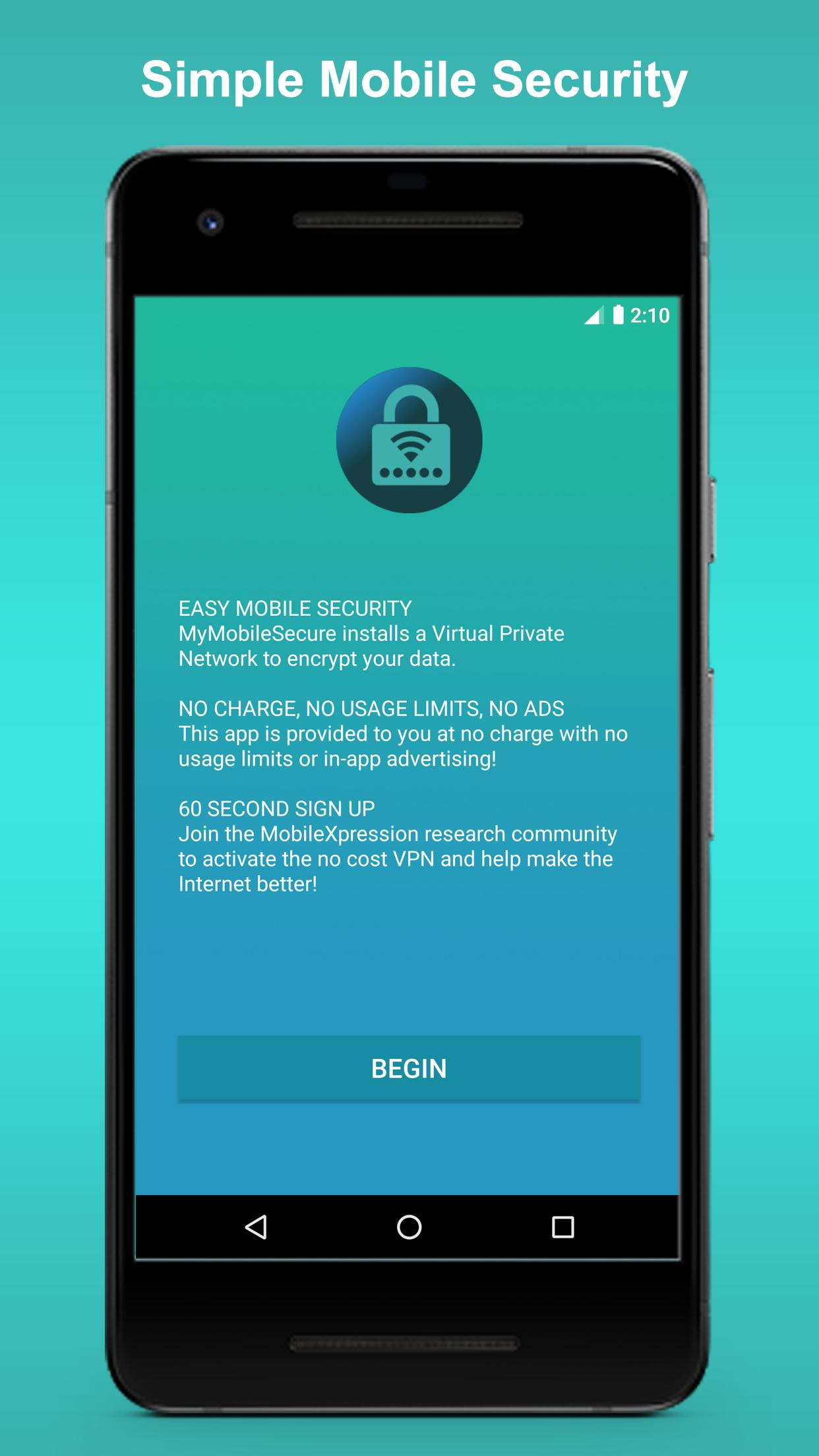My Mobile Secure - Fast, Reliable, Unlimited VPN for Android