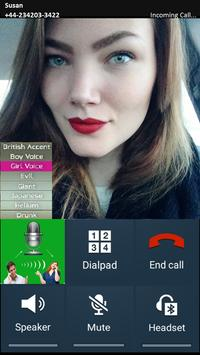 Voice changer during call Male to Female poster
