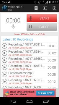 Voice Note - Audio Recorder screenshot 1