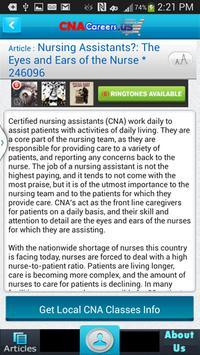 Free CNA Nursing Aide Articles apk screenshot