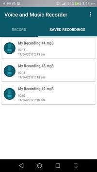Voice & Music Recorder apk screenshot
