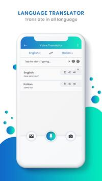 Italian Voice To Text Translator screenshot 1