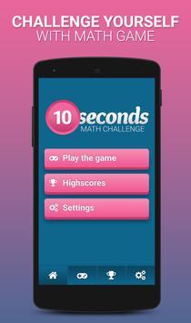 Math Challenge - 10 seconds poster