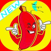 Crazy banana icon