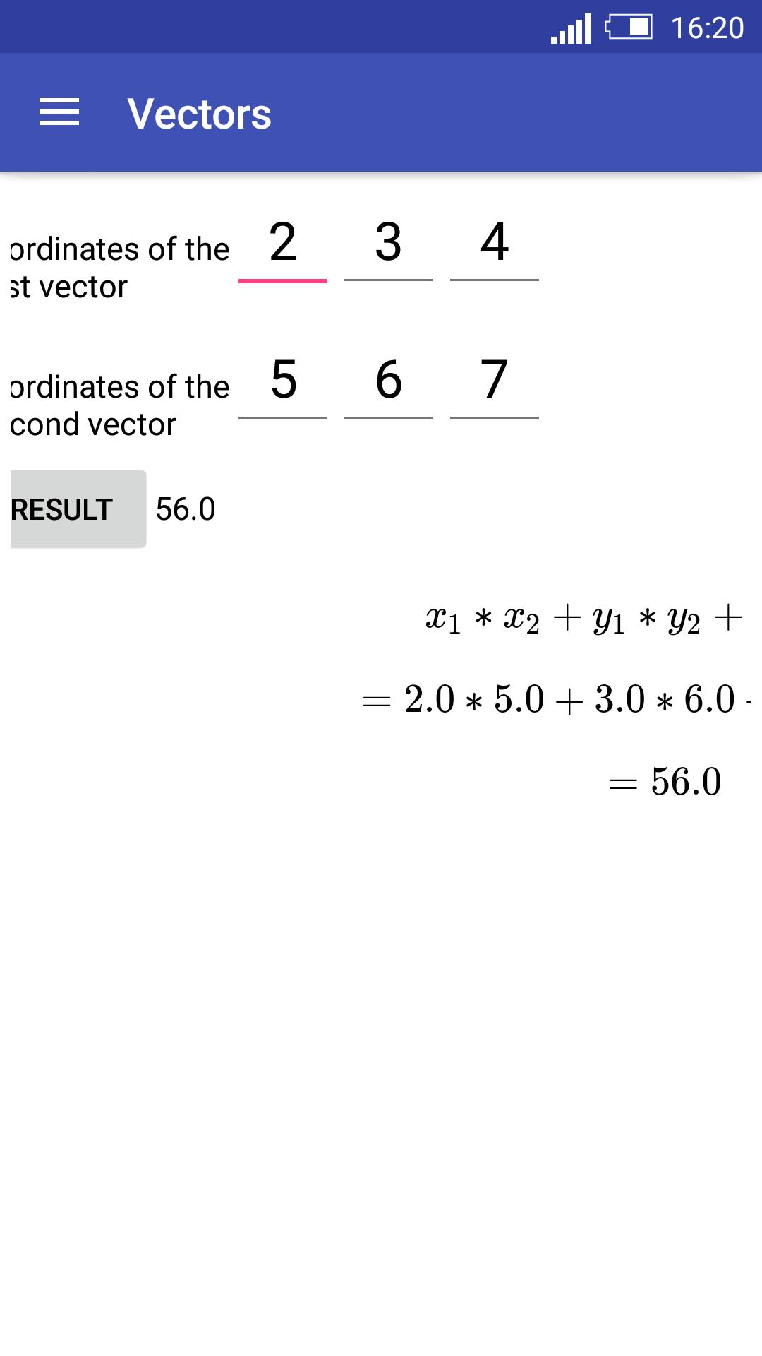 Vector Calculator for Android - APK Download