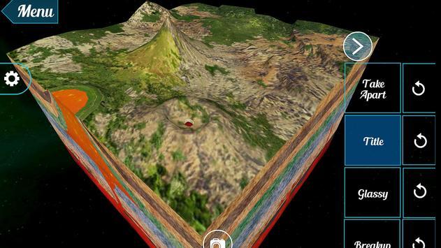 Volcanic Landforms 3D poster