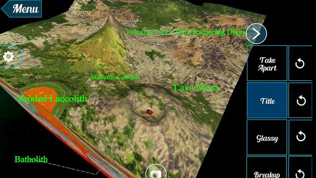 Volcanic Landforms 3D apk screenshot