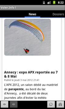 Voler.Info Magazine parapente et paramoteur apk screenshot