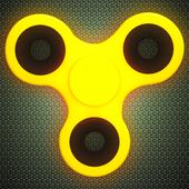 Fidget Spinner Wheel Neon Glow - not a fidget cube icon