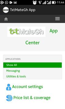 TxtMateGH App Center screenshot 1