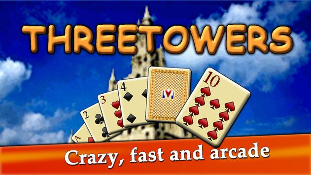 ThreeTowers, The Tripeaks Free Solitaire Game Card poster