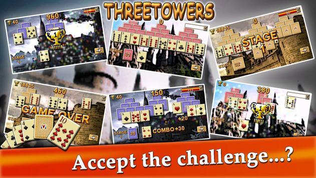 ThreeTowers, The Tripeaks Free Solitaire Game Card screenshot 11