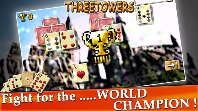 ThreeTowers, The Tripeaks Free Solitaire Game Card screenshot 3