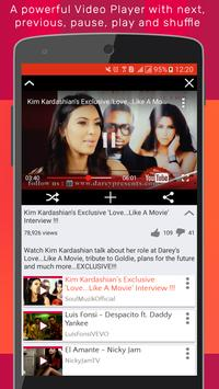 Viream music video for Youtube to play tube apk screenshot