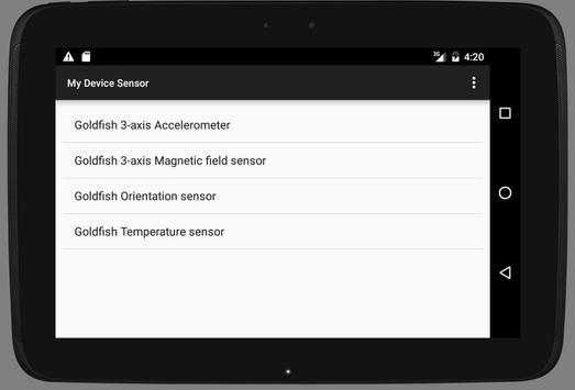 My Device Sensor screenshot 1