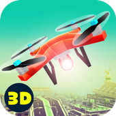 City Drone Flying Simulator: Quadcopter Flight 3D icon