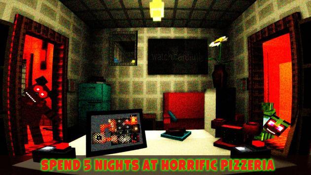 VR 5 Horror Nights at Animatronics Cube Pizzeria poster