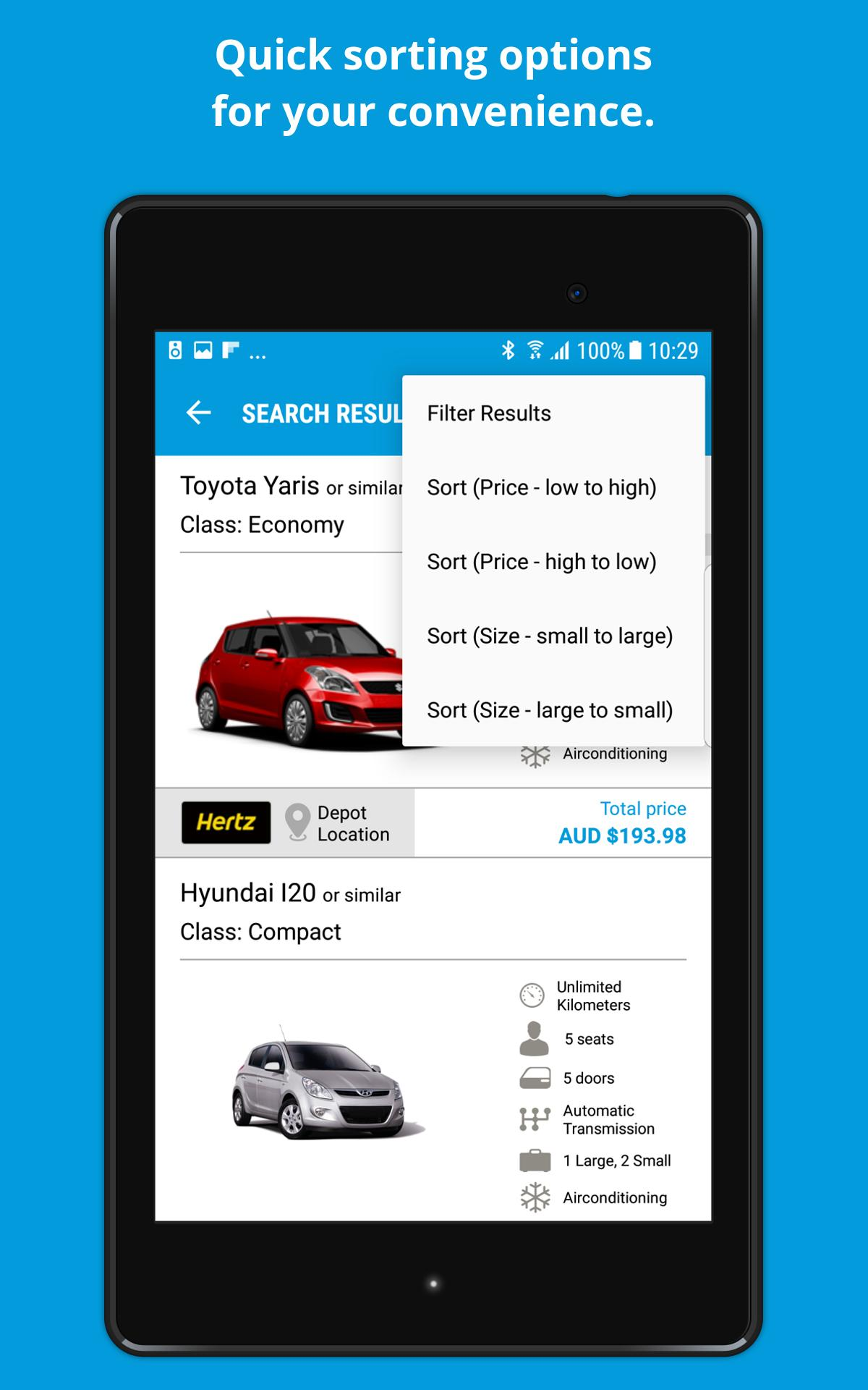 Car Rental Compare >> Carhire We Compare Car Rental For Android Apk Download