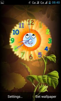 Analog Clock with Eyes - LWP poster