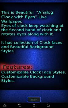 Analog Clock with Eyes - LWP screenshot 11