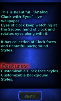 Analog Clock with Eyes - LWP screenshot 4