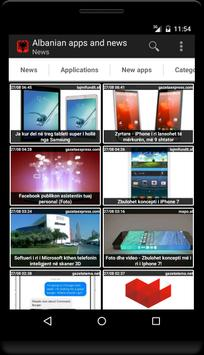 Albanian apps and tech news poster