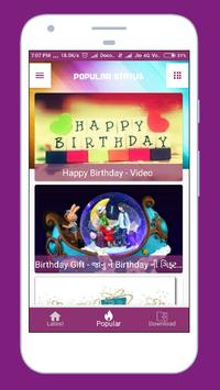 Birthday Video Status poster