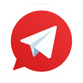 Telegram (Red) icon