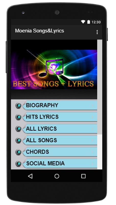 Moenia SongsLyrics For Android