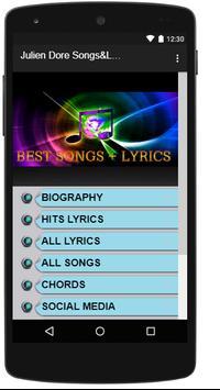 Julien Dore Songs&Lyrics. poster
