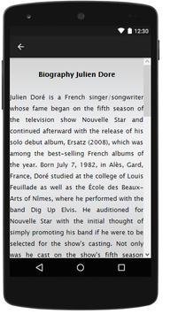Julien Dore Songs&Lyrics. screenshot 1