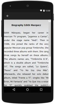 Edith Marquez Songs&Lyrics. screenshot 1