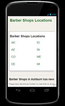 the Barber Shop Locator poster