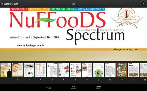 NuFFooDS Spectrum poster