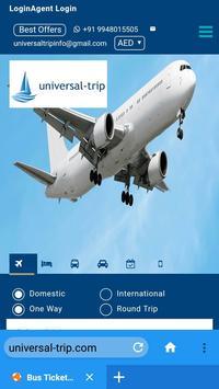 Universaltrip -Flight Hotel Bus Cab  Booking screenshot 4