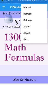 1300 Maths Formula poster