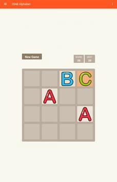 2048 Alphabet apk screenshot