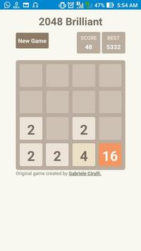 2048 Brilliant apk screenshot