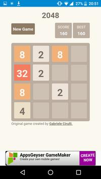 2048 GAME apk screenshot