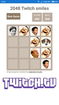 2048 Twitch smileys poster