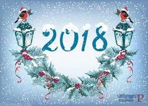 تهنئة العام الجديد 2018  افضل الخلفيات 2018 poster