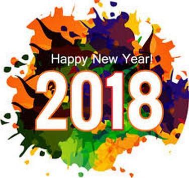 تهنئة العام الجديد 2018  افضل الخلفيات 2018 screenshot 1