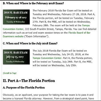 2018 FLORIDA BAR EXAM screenshot 5