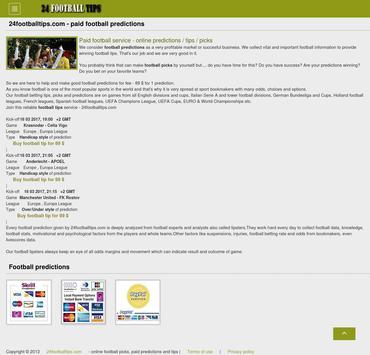 Football tips and picks apk screenshot
