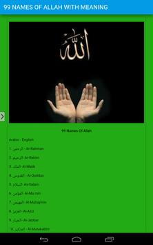 99 Names of Allah With Meaning poster