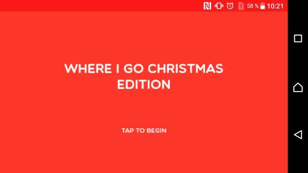 where i go christmas edition poster