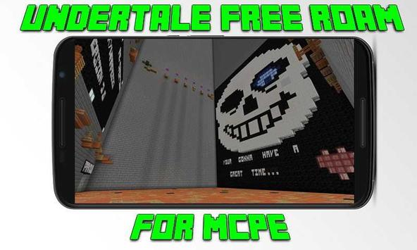 Map Undertale Free Roam for MCPE poster